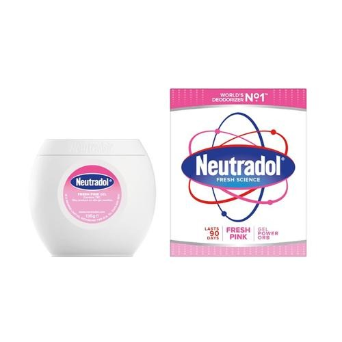 Neutradol Fresh Pink Gel Power Orb Air Freshener 135g