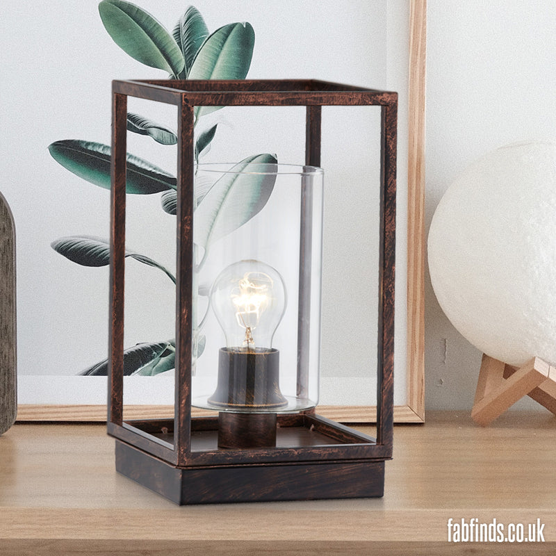 Home Collection Industrial Copper Table Lamp