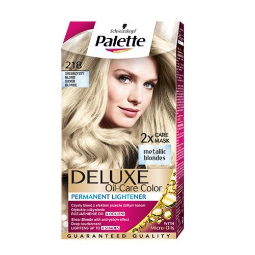 Palette Hair Colour Silver Blonde 218 130ml - FabFinds