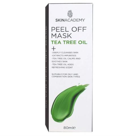 Skin Academy Peel Off Face Mask Tea Tree Oil 80ml - FabFinds