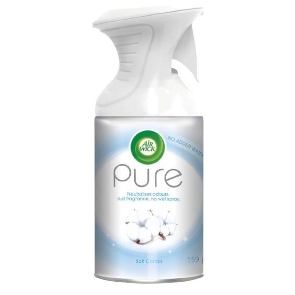 Air Wick Pure Air Freshener Spray Soft Cotton 250ml - FabFinds