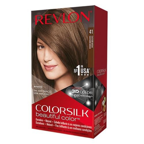 Revlon Colorsilk Hair Colour Medium Brown 41 130ml - FabFinds