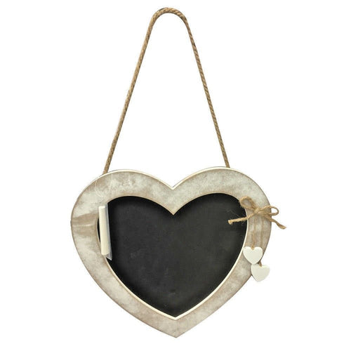 Rustic Hanging Chalkboard Heart Sign