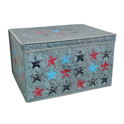 Stars Chest Jumbo Blue and Red Storage Solution - FabFinds