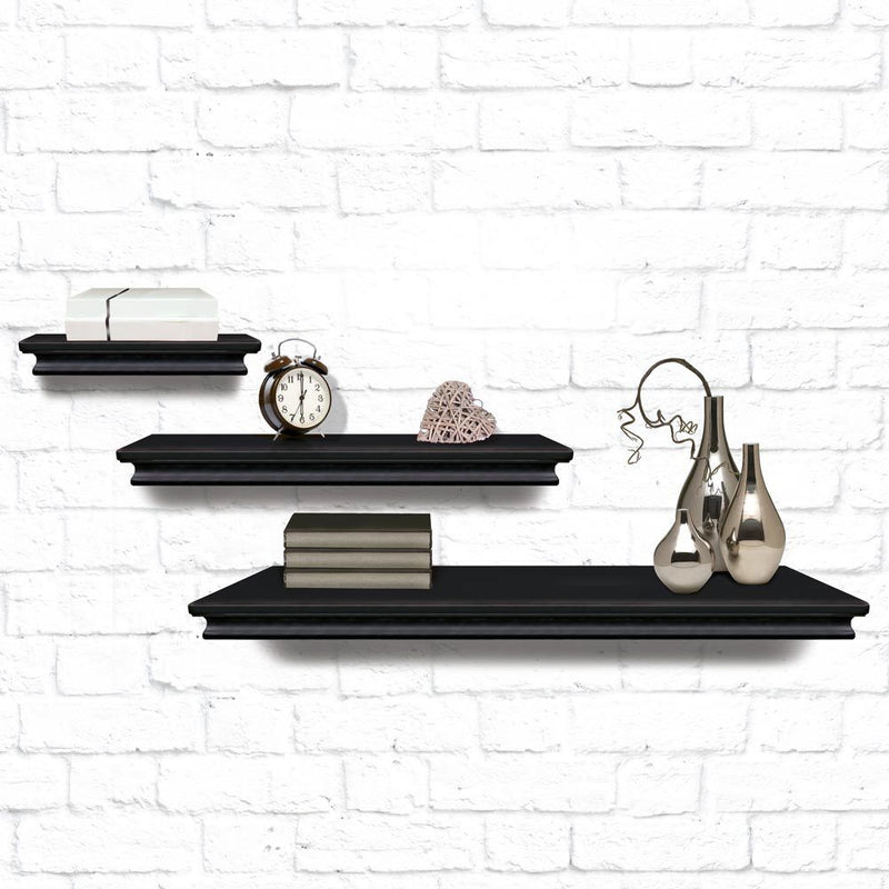 Set of 3 Floating Wall Shelves - FabFinds