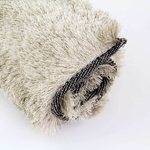Silver Luxurious Shiny Rug 100 x 150cm