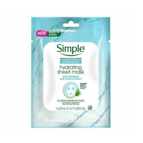 Simple Water Boost Hydrating Sheet Mask 21ml