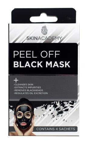 Skin Academy Peel Off Black Mask 4 Treatments - FabFinds
