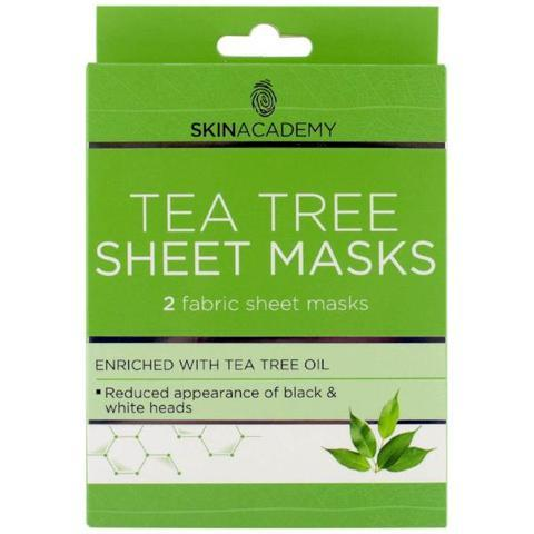 Skin Academy Tea Tree Fabric Sheet Face Mask - FabFinds