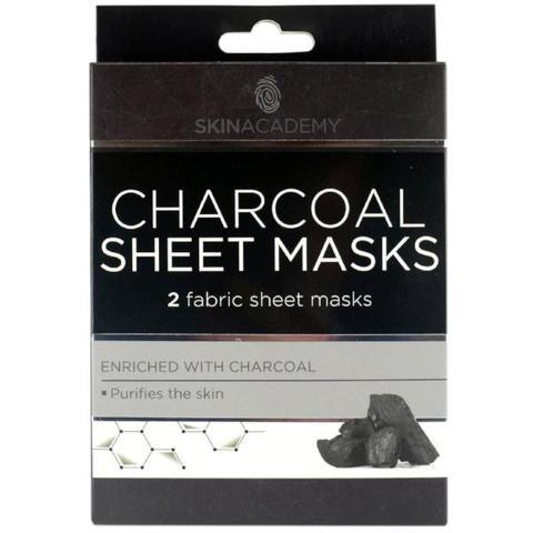 Skin Academy Charcoal Fabric Sheet Face Mask - FabFinds