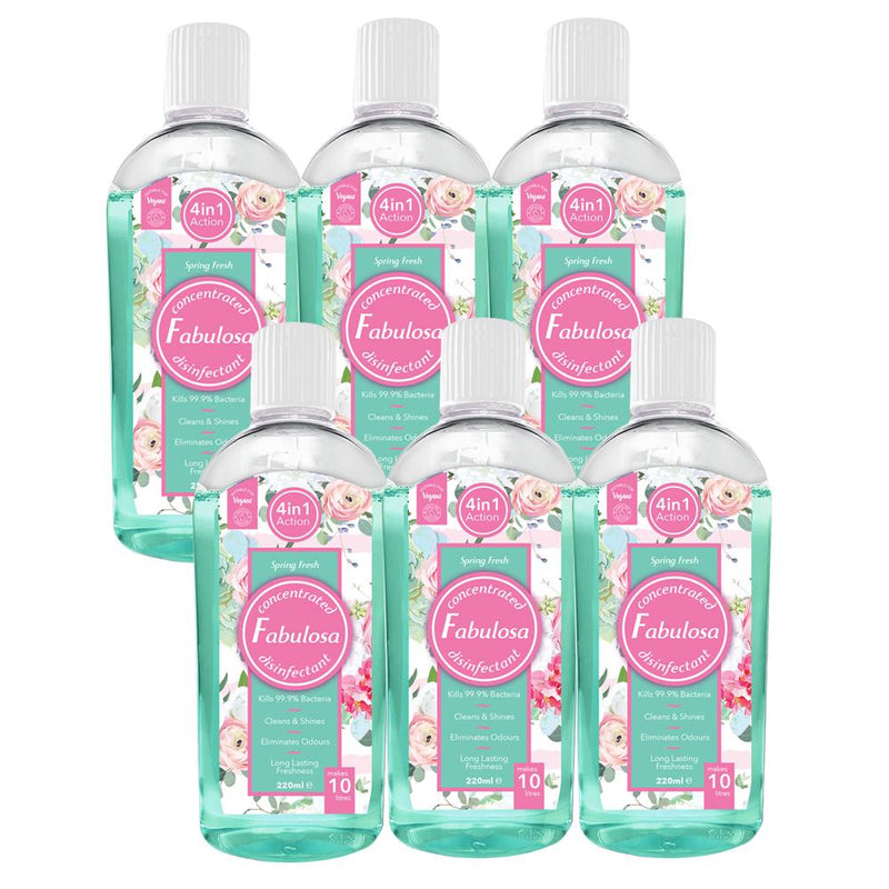 Fabulosa Spring Fresh Concentrated Disinfectant 220ml Case of 6 - FabFinds