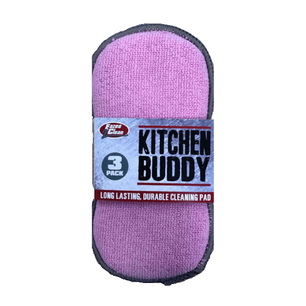 Kitchen Buddy Washing Up Cleaning Pad Triple Pack - FabFinds