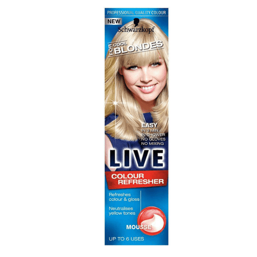 Schwarzkopf Live Colour Refresher Cool Blondes Mousse 75ml