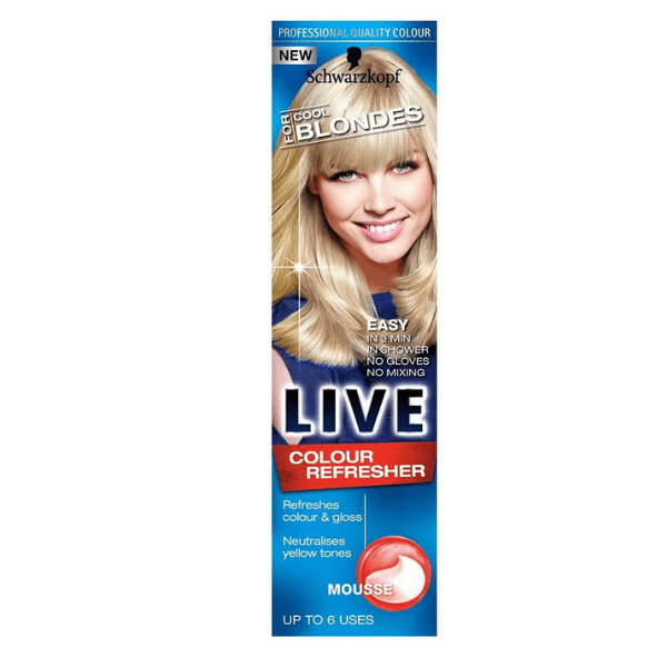 Schwarzkopf Live Colour Refresher Cool Blondes Mousse 75ml - FabFinds