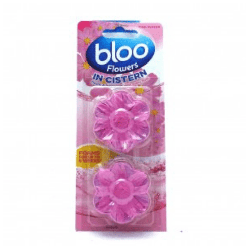 Bloo Rim Block Cageless Pink Toilet Cleaner Cistern Tablet (Twin Pack)