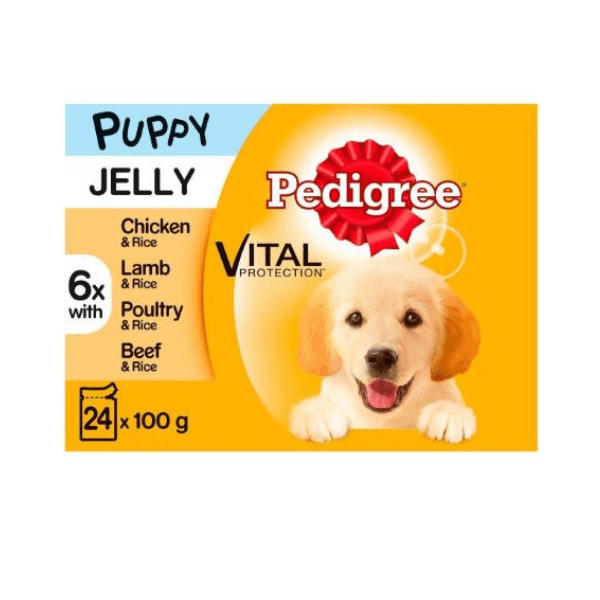 Pedigree Dog Puppy Food Meat in Jelly 24 Pouches - FabFinds
