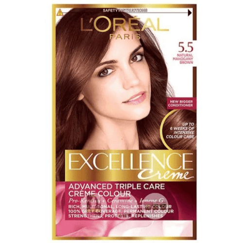 L'Oreal Paris Excellence Creme Mahogany Brown 5.5 Hair Dye