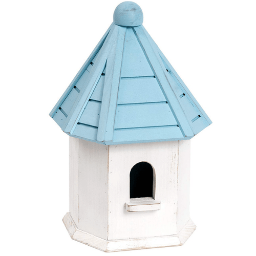 Petface Dovecote Nest Box Birdhouse Blue and White