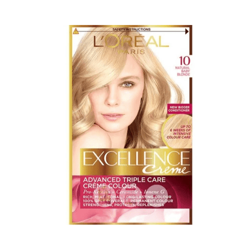 L'Oreal Excellence Creme Natural Baby Blonde 10 Hair Dye