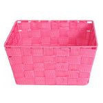 Mini Wide Weave Storage Baskets Assorted Colours - FabFinds