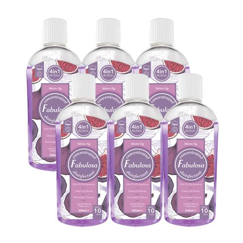 Fabulosa Winter Fig Concentrated 4 in 1 Disinfectant 220ml 6-Pack - FabFinds