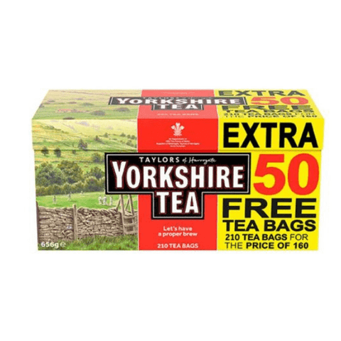 Yorkshire Tea Bags 160 with 50% Extra Free