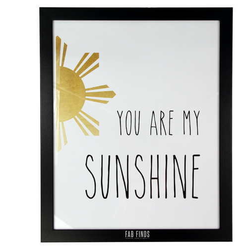 You Are My Sunshine Quote Framed Wall Art