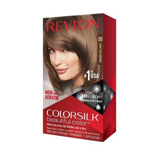Revlon Colorsilk Hair Colour Light Ash Brown 50 130ml - FabFinds