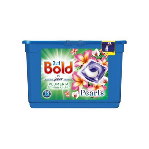 Bold 2in1 Plumeria and White Orchid Pearls 18 Washes