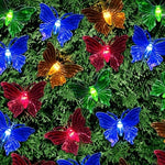 Butterfly Solar Lights 20 LED Assorted Colours