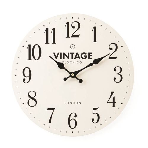 Contemporary Cream Vintage London Wall Clock 34cm