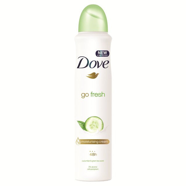 Dove Go Fresh Cucumber Deodorant Aerosol 250ml - FabFinds
