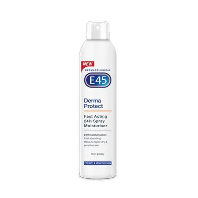 E45 Derma Protect Fast Acting 24H Spray Moisturiser 200ml - FabFinds