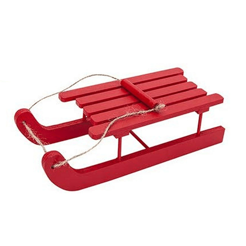 Elves Behavin Badly Red Wooden Sleigh - FabFinds