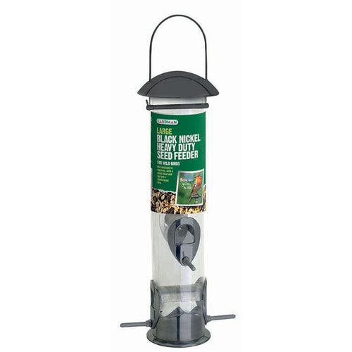 Gardman Bird Feeder Black Nickel Wild Bird Seed