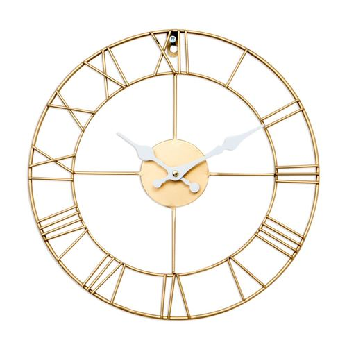 Statement Gold Roman Skeleton Clock 34cm