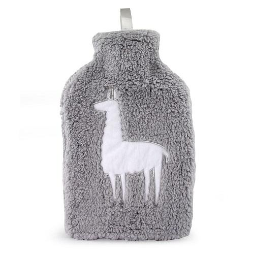 Lux Grey Llama Hot Water Bottle - FabFinds