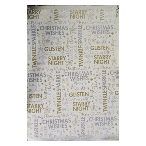 Mixed Metallics Christmas Wrapping Paper 10M