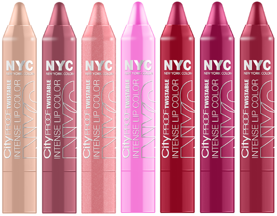 NYC City Proof Twistable Intense Lip Colour Crayons - FabFinds