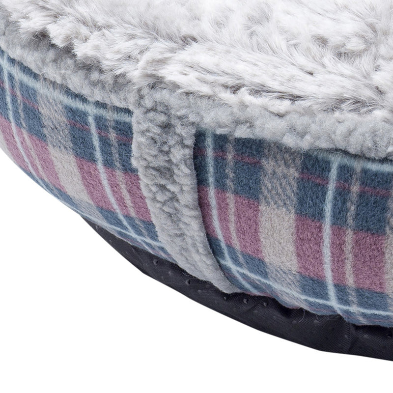 Petface Donut Cat Bed Dove Grey Faux Fur - FabFinds