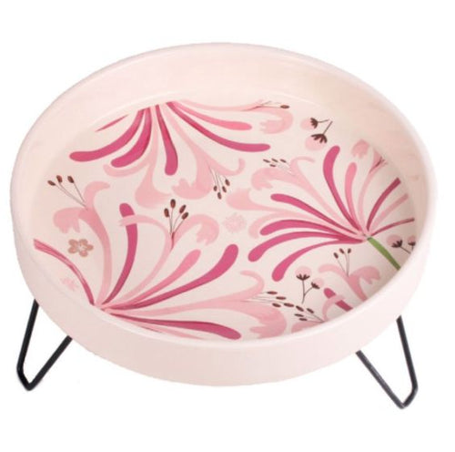 Petface Ceramic Garden Wild Bird Bath Honeysuckle