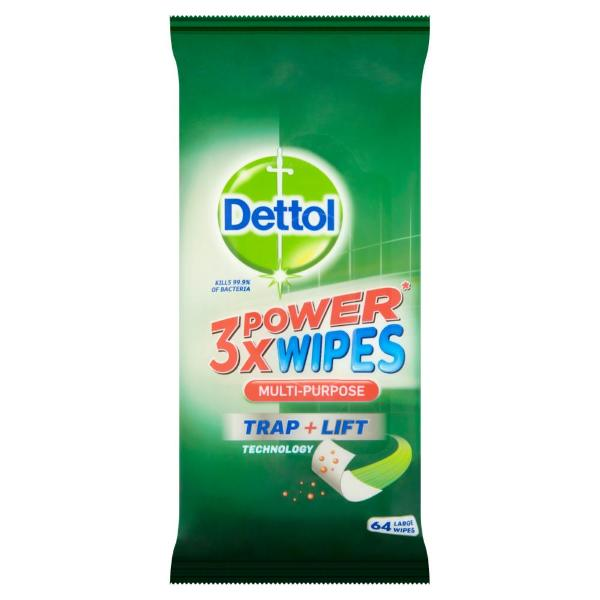 Dettol Extra Power Cleaning Wipes Multipurpose Large Anti-bacterial - FabFinds