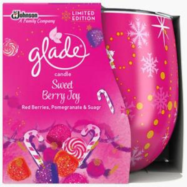 Glade Sweet Berry Joy Candle Limited Edition - FabFinds
