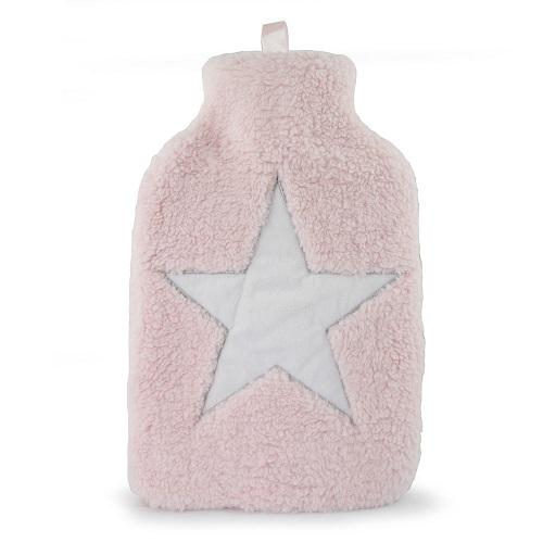 Lux Pink Star Hot Water Bottle 2 Litre - FabFinds