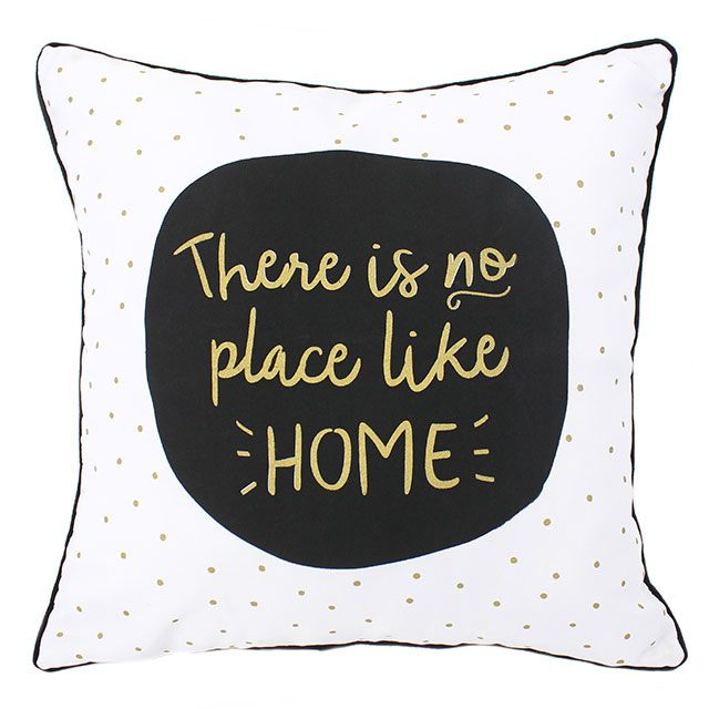 No Place Like Home Quote Cushion - FabFinds