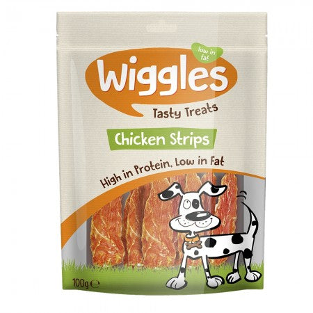 Wiggles Chicken Strips Dog Treats - FabFinds
