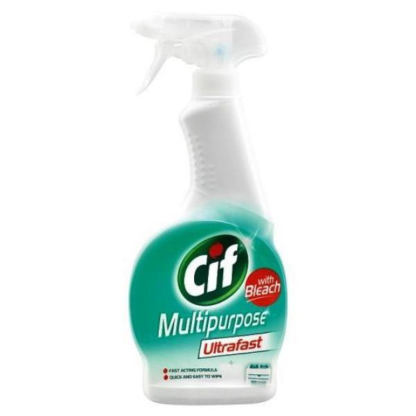 Cif Multipurpose Ultrafast with Bleach Spray 450ml - FabFinds