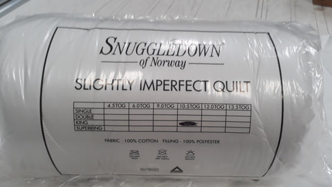 Snuggledown Hollowfibre Duvet - 10.5 Tog - Single, Double, King,Superking (slightly imperfect)