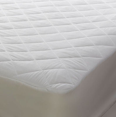 "Polycotton mattress protector for 4'6"" x 6'3"" bed 136cm x 190cm bed 15"" depth"