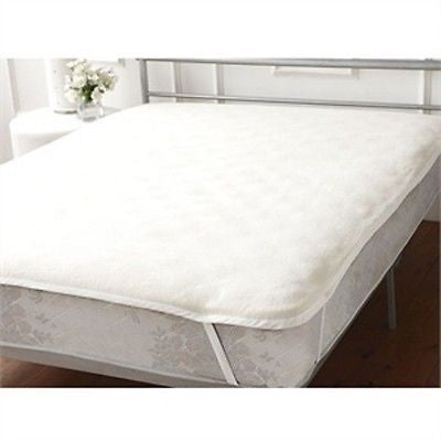 "Hollowfibre Quilted Mattress Topper for single 4'6"" x 6'3"" bed"
